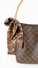 Load image into Gallery viewer, Louis Vuitton Monogram Trunk Silk Bandeau
