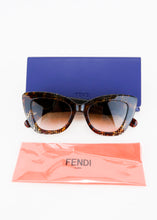 Load image into Gallery viewer, Fendi FF Tortoiseshell Cat-Eye Sunglasses