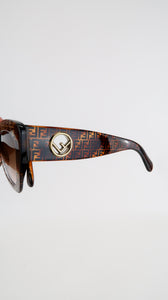 Fendi FF Tortoiseshell Cat-Eye Sunglasses