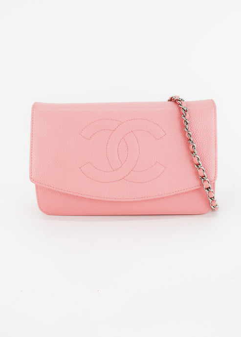 Chanel Pink Wallet On A Chain