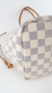 Louis Vuitton Damier Azur Neverfull MM Pink