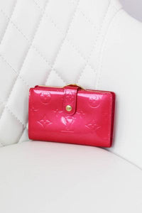 Louis Vuitton Vernis Pink French Wallet