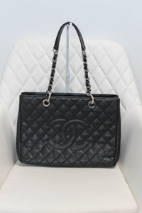Chanel Black Caviar Grand Shopper Tote