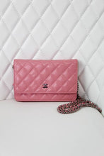 Load image into Gallery viewer, Chanel Pink Lambskin Wallet on a Chain
