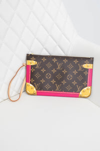 Louis Vuitton Limited Edition Monogram Pink Trunks Neverfull Pochette