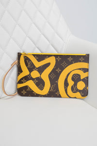 Louis Vuitton Tahiti Monogram Yellow Neverfull Pochette