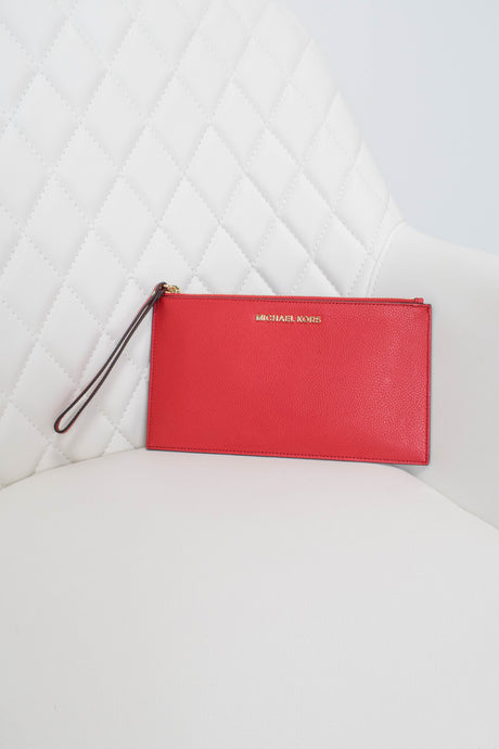 Michael Kors Red Leather Wristlet