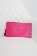 Load image into Gallery viewer, Michael Kors Pink Leather Wristlet