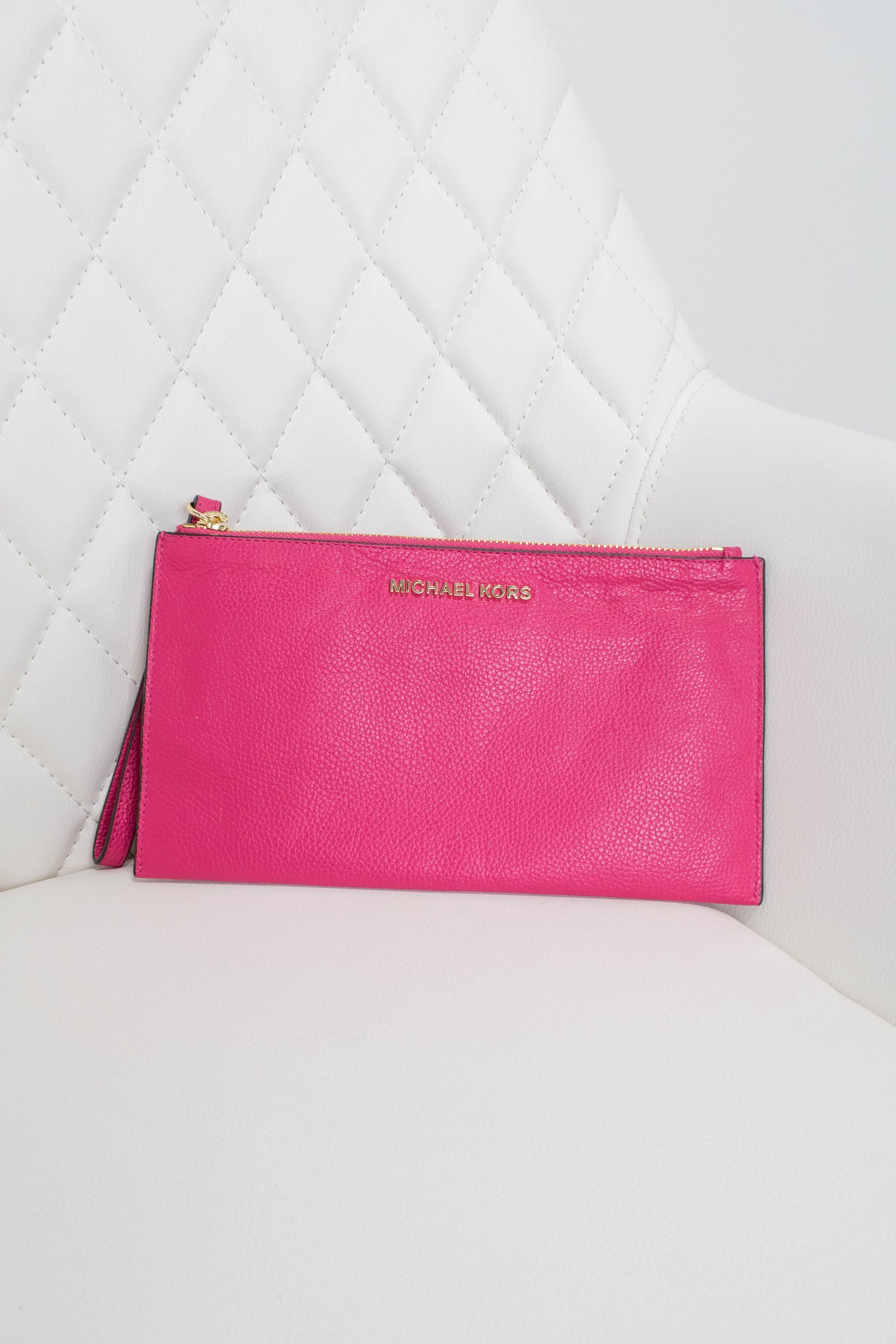 Michael Kors Pink Leather Wristlet