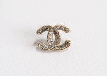 Load image into Gallery viewer, Chanel CC Rhinestone Stud Earrings