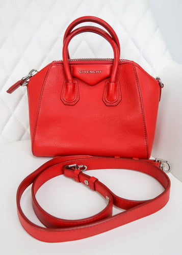Givenchy Red Mini Antigona Bag