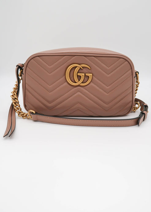 Gucci Marmont Matelassé  Beige Small Shoulder Bag