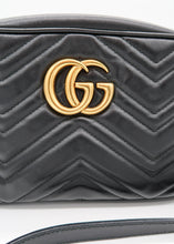 Load image into Gallery viewer, Gucci Marmont Matelassé Black Shoulder Bag