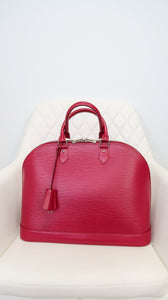 Louis Vuitton Epi Alma GM Magenta