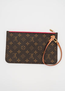 Louis Vuitton Monogram & Pink Neverfull Pochette