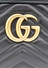 Load image into Gallery viewer, Gucci Black Marmont Small Shoulder Bag