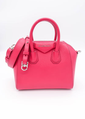 Givenchy Pink Mini Antigona Shoulder Bag