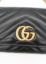Load image into Gallery viewer, Gucci Black Marmont Wallet On A Chain