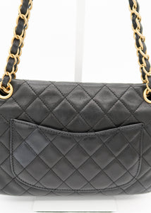 Chanel Black Lambskin Limited Edition Vintage Flap