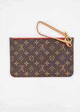 Load image into Gallery viewer, Louis Vuitton Monogram w/ Red Neverfull Pochette