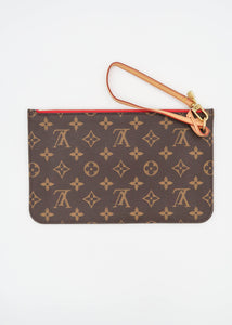 Louis Vuitton Monogram w/ Red Neverfull Pochette