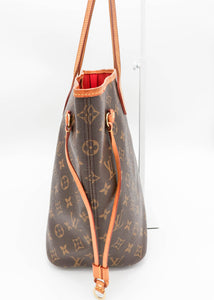 Louis Vuitton Monogram w/ Red Neverfull MM