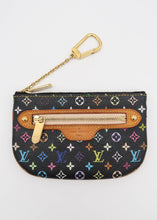 Load image into Gallery viewer, Louis Vuitton Black Multicolor Key Pouch