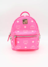 Load image into Gallery viewer, MCM Neon Pink Stark Bebo Boo Backpack