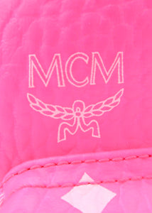 MCM Neon Pink Stark Bebo Boo Backpack