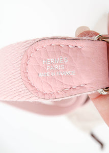 Hermes Pink Taurillon Clemence TPM Shoulder Bag