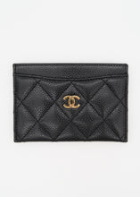 Load image into Gallery viewer, Chanel Black Caviar Leather Card Holder