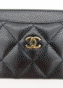 Chanel Black Caviar Leather Card Holder
