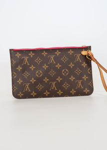 Louis Vuitton Monogram w/ Pink Neverfull Pochette