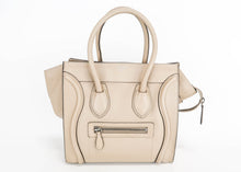 Load image into Gallery viewer, Celine Grained Leather Micro Luggage Grey