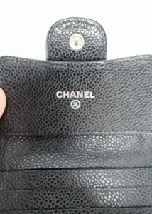 Chanel Black Caviar Classic Wallet