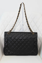 Load image into Gallery viewer, Chanel Caviar Black Maxi Flap