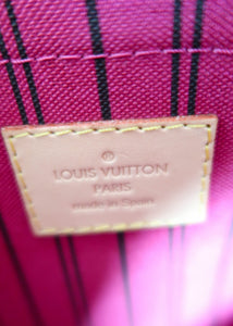 Louis Vuitton Monogram Neverfull Pochette w/ Pink