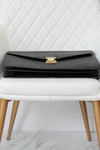 Louis Vuitton Black Epi Leather Briefcase