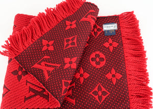 Louis Vuitton Red Logomania Scarf