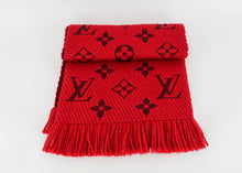 Load image into Gallery viewer, Louis Vuitton Red Logomania Scarf