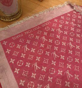 Louis Vuitton Monogram Pink Scarf