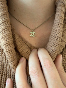 Chanel CC Logo Necklace