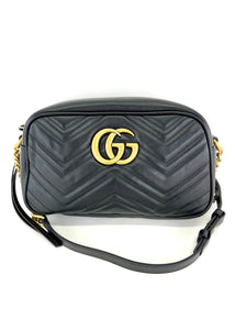 Gucci Black Matelasse Marmont Small