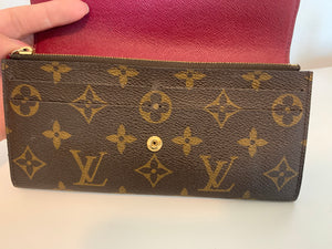 Louis Vuitton Monogram Fuchsia Emilie Wallet