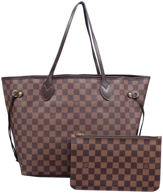 Louis Vuitton Damier Ebene Neverfull MM & Pouch