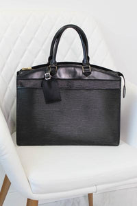 Louis Vuitton Black Epi Handbag
