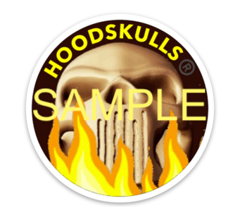 HoodSkulls® Decal. Sold Individually.