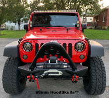 HoodSkulls™ blsk129jk-68mm-black-matte Jeep Hood Accessory