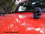 HoodSkulls® blsk2jk-black-matte Jeep Hood Accessories