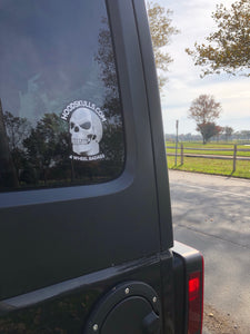 HoodSkulls® decal. Sold Individually. Select Color and Style.